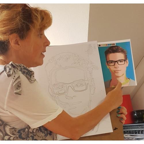 Лесно е! Елате и нарисувайте портрет на любимите хора!